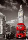 Red London Bus with Big Ben. Print/Poster/Canvas. Sizes: A3/A2/A1